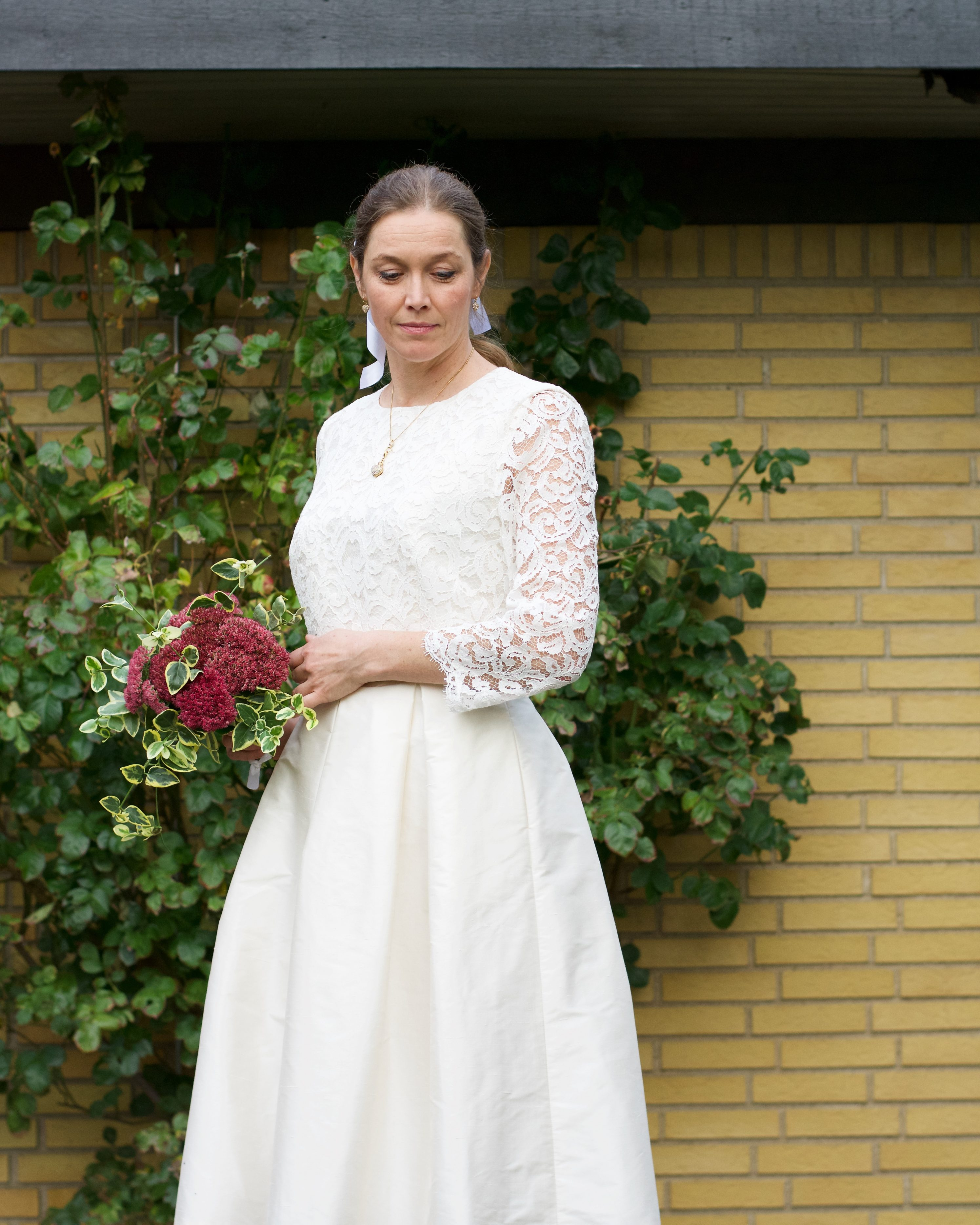 Make your own vintage inspired wedding dress from a regular dress pattern.