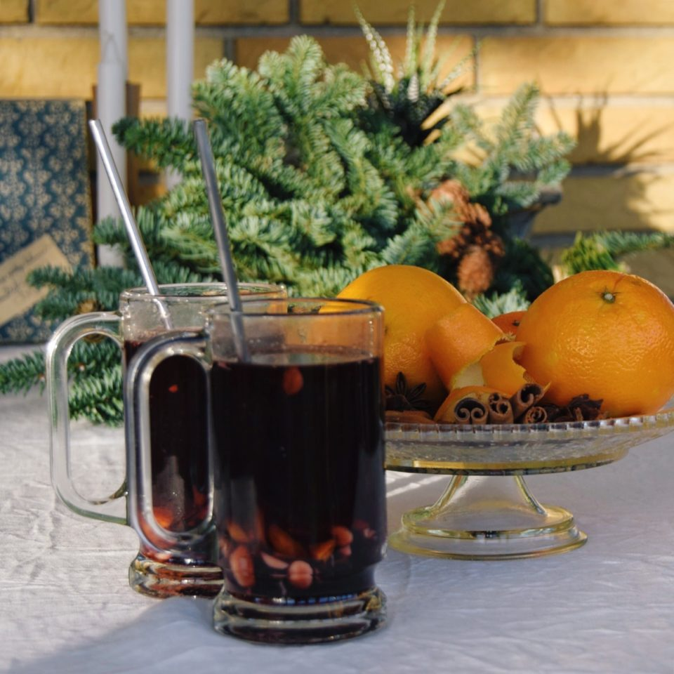 Homemade mulled wine for danish hygge